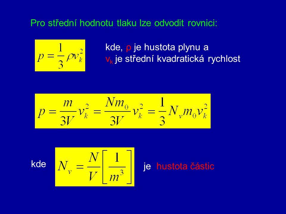 4.Tlak ideálního plynu p t psps Tlak vyvolaný nárazy molekul na stěny nádoby není konstantní, kolísá kolem střední hodnoty p s - fluktuace tlaku