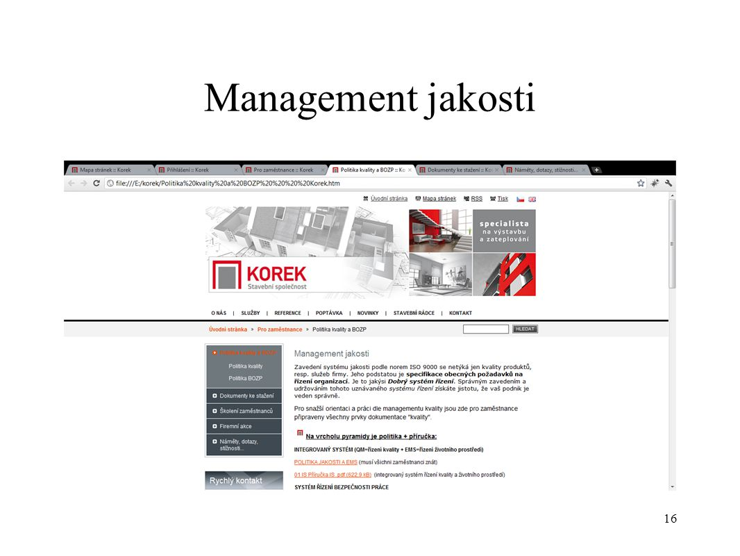 Management jakosti 16