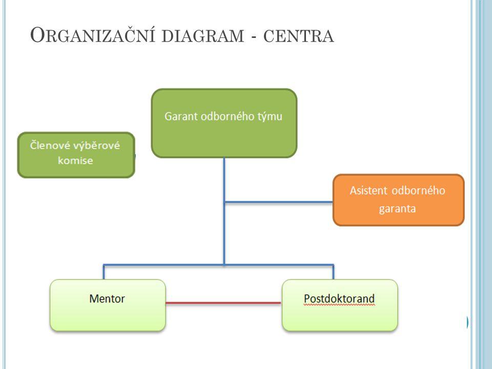 O RGANIZAČNÍ DIAGRAM - CENTRA 20