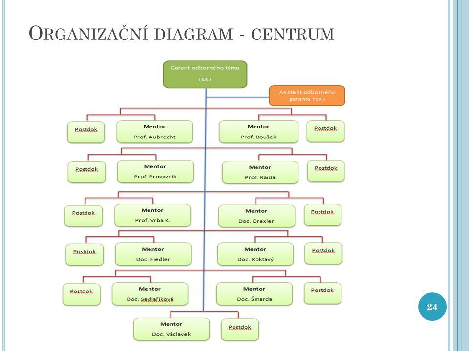 O RGANIZAČNÍ DIAGRAM - CENTRUM 24
