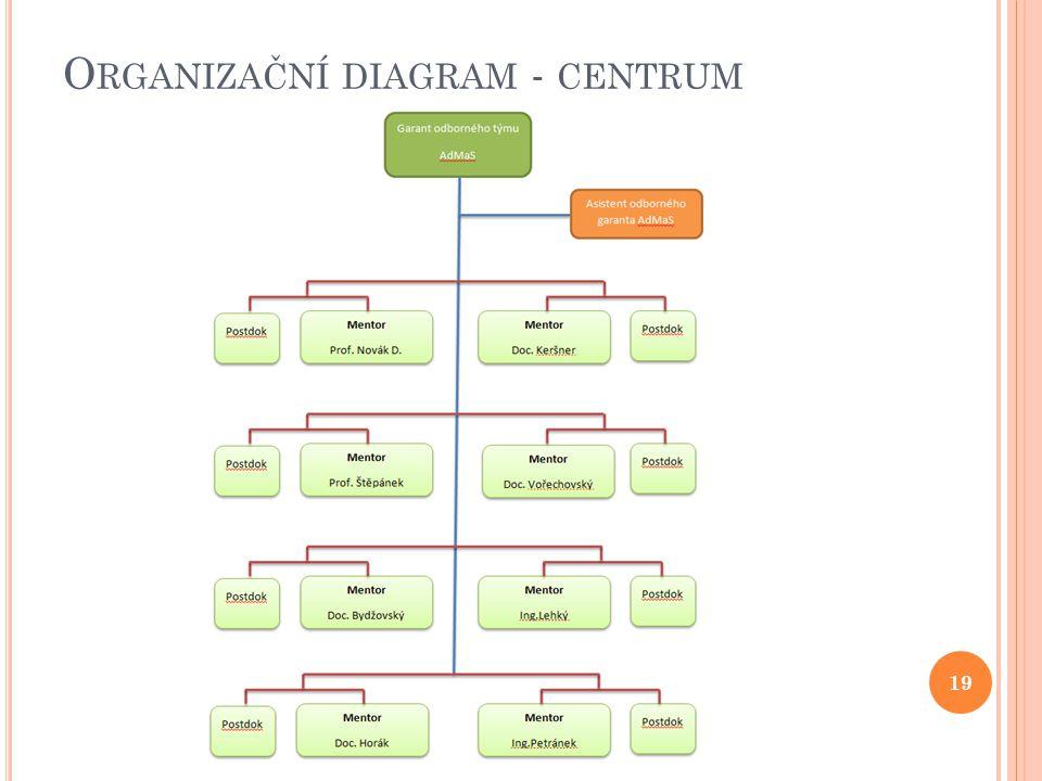 O RGANIZAČNÍ DIAGRAM - CENTRUM 19