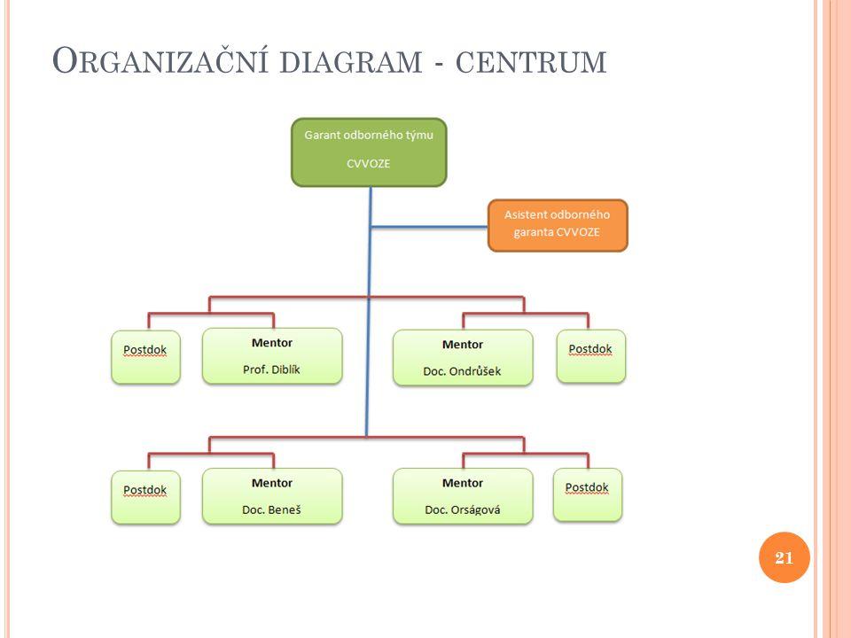 O RGANIZAČNÍ DIAGRAM - CENTRUM 21