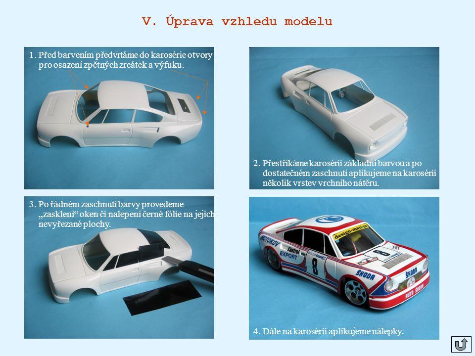 V.Úprava vzhledu modelu 1.