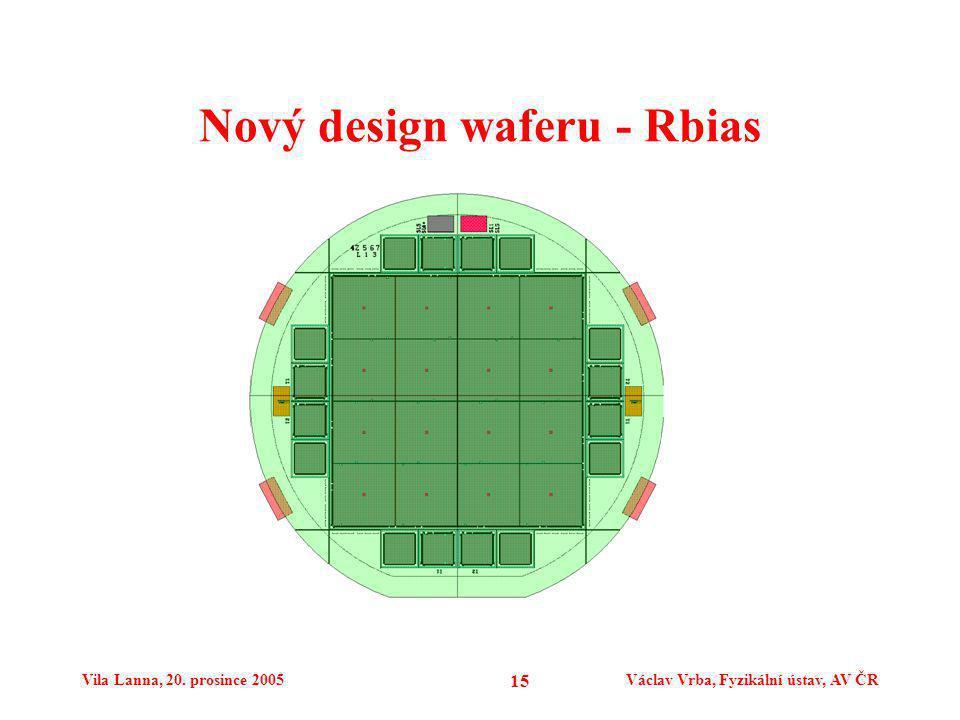 Vila Lanna, 20. prosince 2005Václav Vrba, Fyzikální ústav, AV ČR 15 Nový design waferu - Rbias