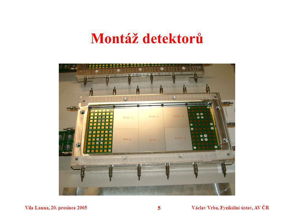 Vila Lanna, 20. prosince 2005Václav Vrba, Fyzikální ústav, AV ČR 5 Montáž detektorů