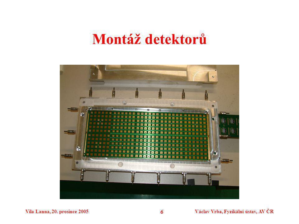 Vila Lanna, 20. prosince 2005Václav Vrba, Fyzikální ústav, AV ČR 6 Montáž detektorů