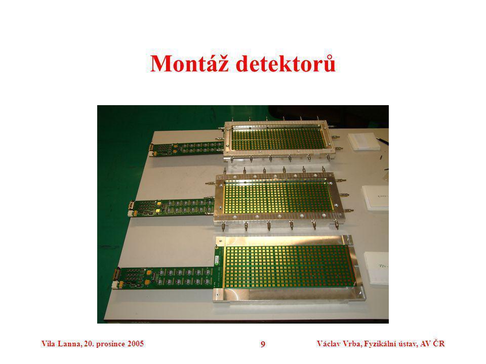 Vila Lanna, 20. prosince 2005Václav Vrba, Fyzikální ústav, AV ČR 9 Montáž detektorů