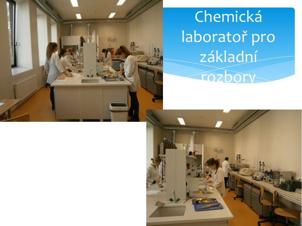 Chemická laboratoř pro základní rozbory potravin