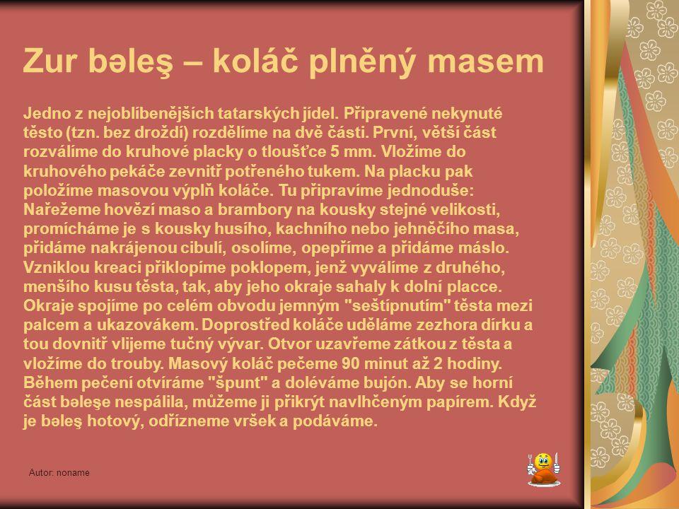 Autor: noname Toqmaç – nudlová polévka