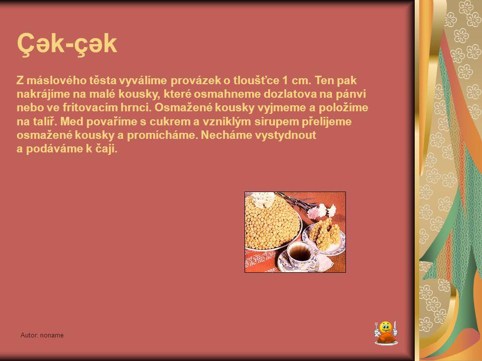 Autor: noname Zur bəleş – koláč plněný masem