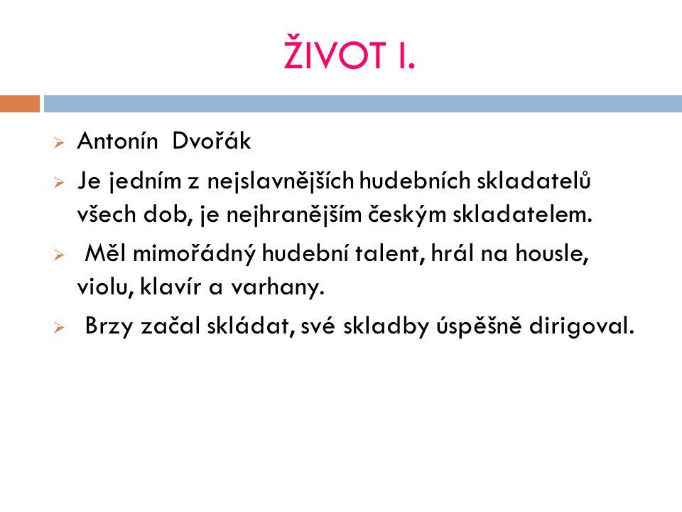 ŽIVOT II. Stal se profesorem na pražské konzervatoři.