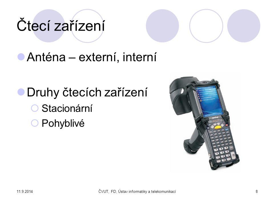 11.9.2014ČVUT, FD, Ústav informatiky a telekomunikací29 Identifikace objektu polohy vnitřního stavu