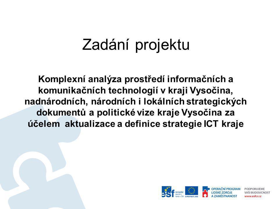 Komplexní analýza prostředí informačních a komunikačních technologií v kraji Vysočina, nadnárodních, národních i lokálních strategických dokumentů a p