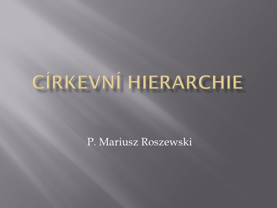 P. Mariusz Roszewski