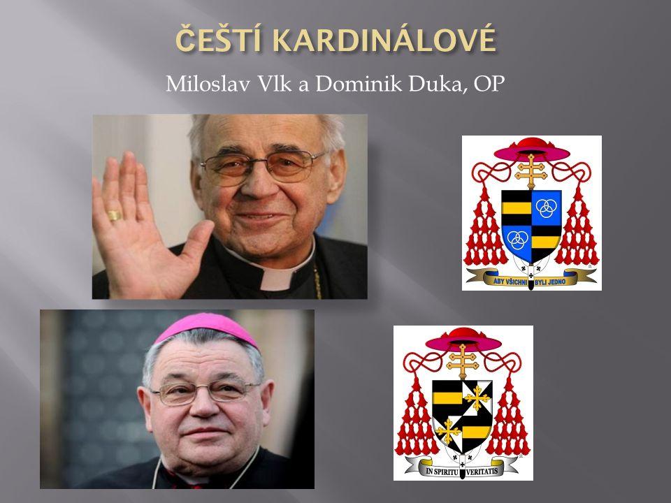 Miloslav Vlk a Dominik Duka, OP