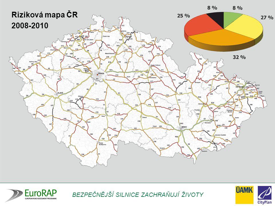BEZPEČNĚJŠÍ SILNICE ZACHRAŇUJÍ ŽIVOTY Riziková mapa ČR 2008-2010