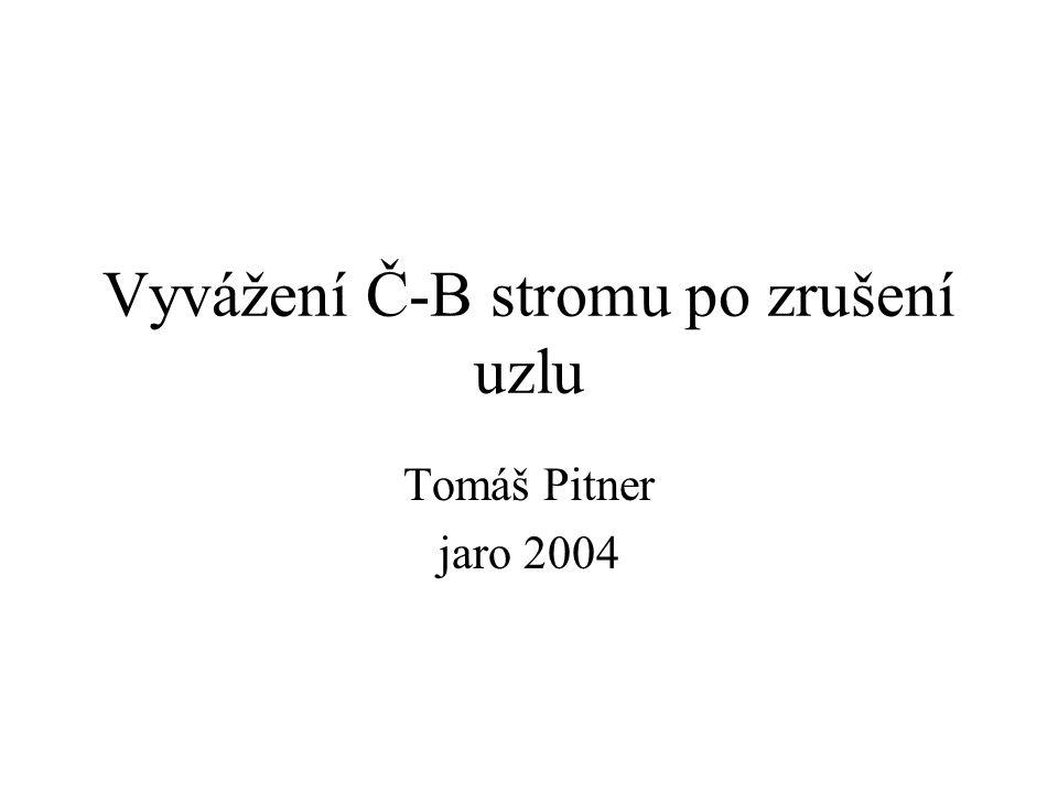 Vyvážení Č-B stromu po zrušení uzlu Tomáš Pitner jaro 2004