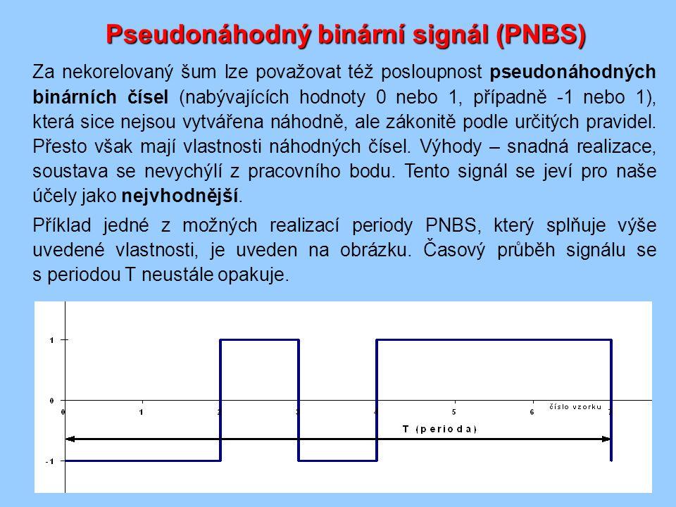 Za nekorelovaný šum lze považovat též posloupnost pseudonáhodných binárních čísel (nabývajících hodnoty 0 nebo 1, případně -1 nebo 1), která sice nejsou vytvářena náhodně, ale zákonitě podle určitých pravidel.