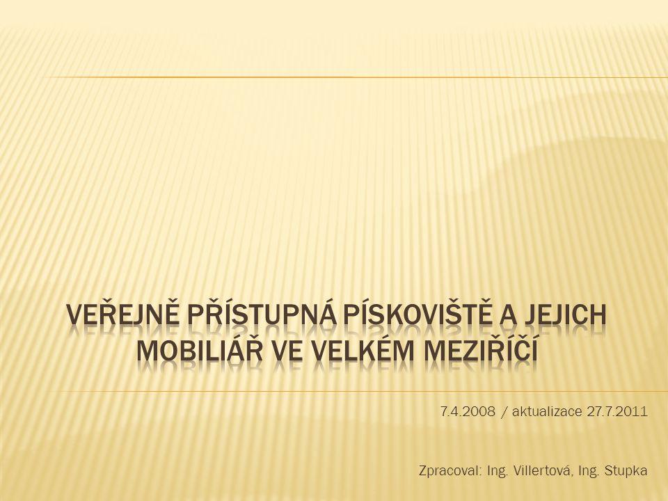 7.4.2008 / aktualizace 27.7.2011 Zpracoval: Ing. Villertová, Ing. Stupka