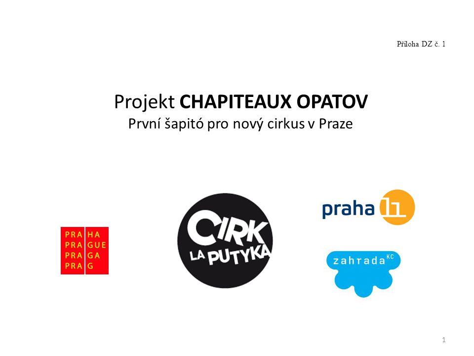 1 Projekt CHAPITEAUX OPATOV První šapitó pro nový cirkus v Praze Příloha DZ č. 1