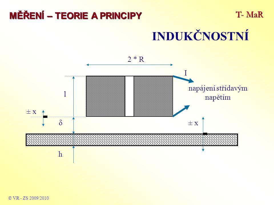 T- MaR MĚŘENÍ – TEORIE A PRINCIPY INDUKČNOSTNÍ © VR - ZS 2009/2010 2 * R I napájení střídavým napětím l δ h ± x