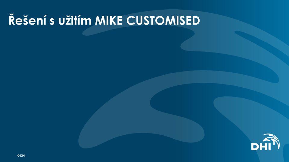 Řešení s užitím MIKE CUSTOMISED