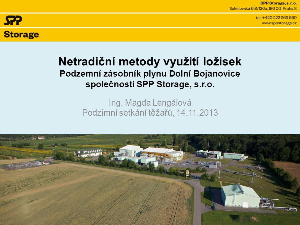 Netradiční metody využití ložisek Podzemní zásobník plynu Dolní Bojanovice společnosti SPP Storage, s.r.o.