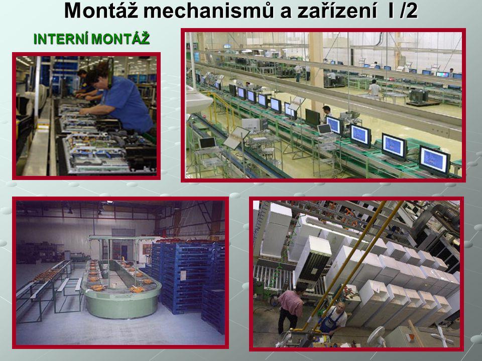 Montáž mechanismů a zařízení I /2 EXTERNÍ MONTÁŽE