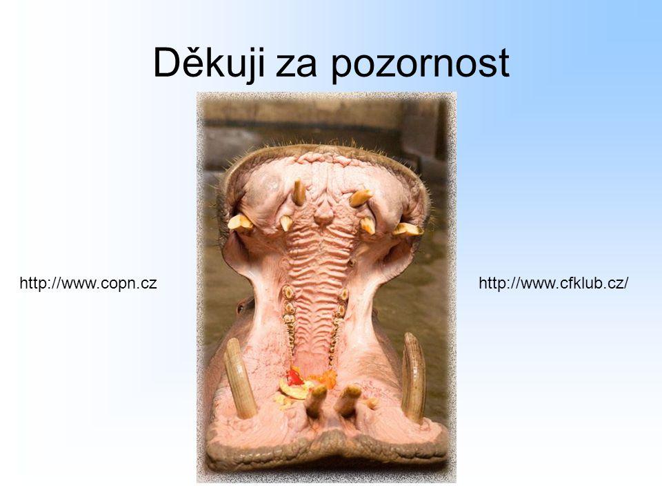Děkuji za pozornost http://www.cfklub.cz/http://www.copn.cz