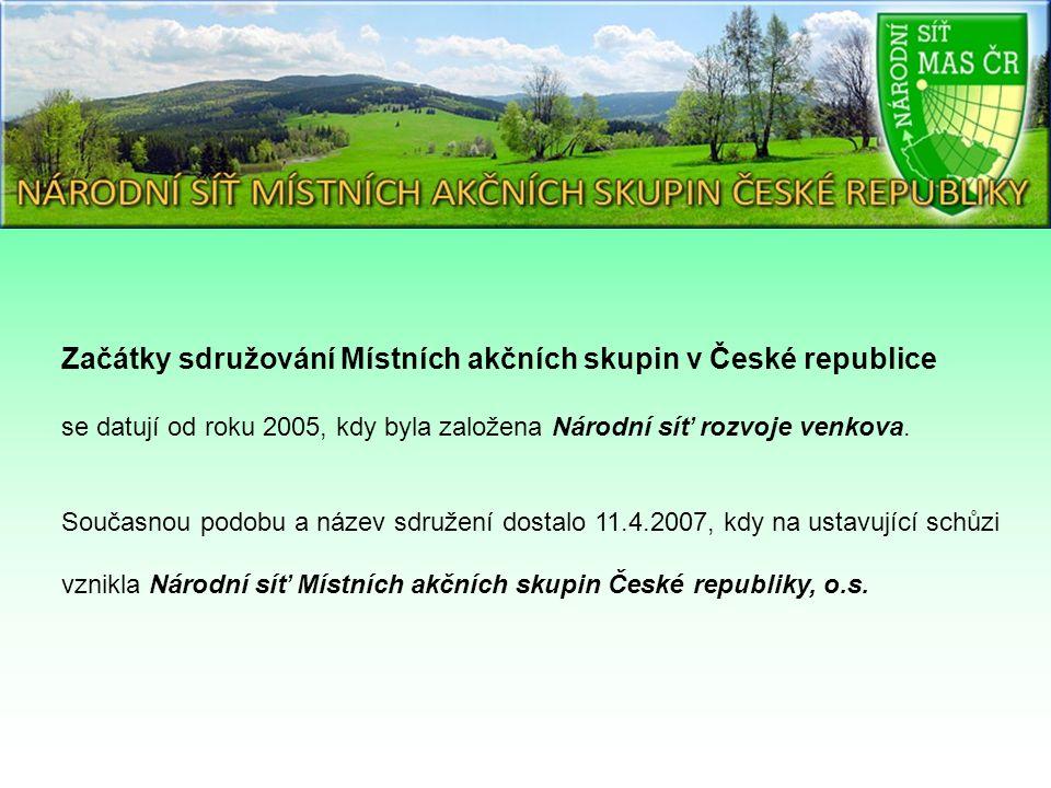 Začátky sdružování Místních akčních skupin v České republice se datují od roku 2005, kdy byla založena Národní síť rozvoje venkova.