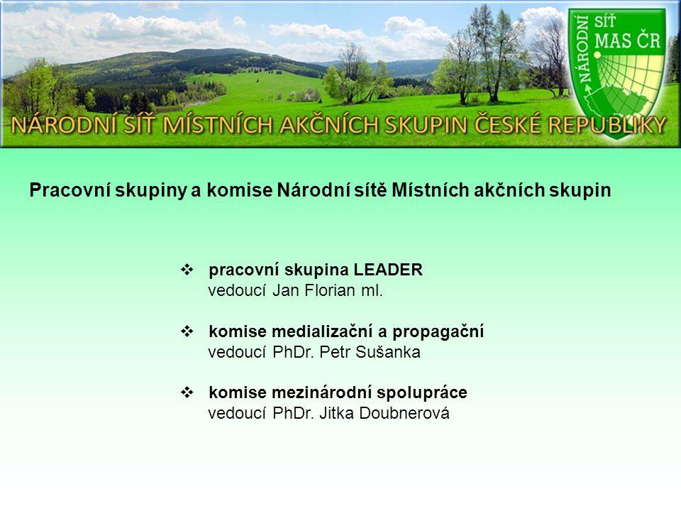 Pracovní skupiny a komise Národní sítě Místních akčních skupin  pracovní skupina LEADER vedoucí Jan Florian ml.