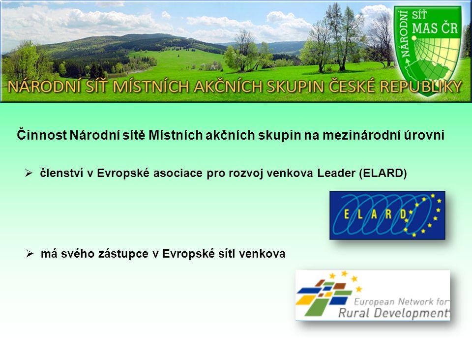 Činnost Národní sítě Místních akčních skupin na mezinárodní úrovni  členství v Evropské asociace pro rozvoj venkova Leader (ELARD)  má svého zástupce v Evropské síti venkova
