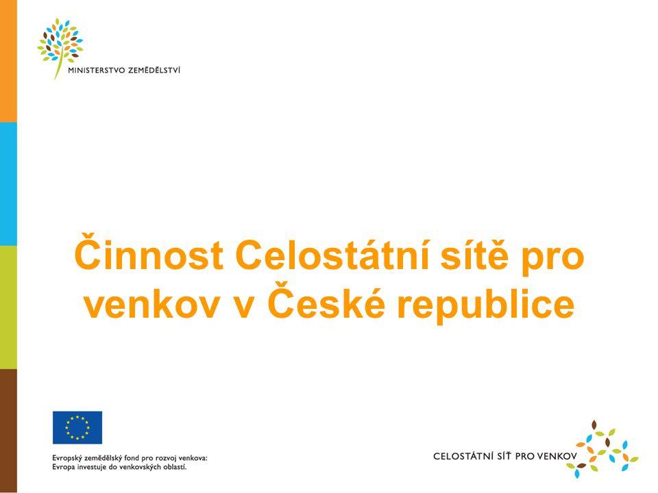 Činnost Celostátní sítě pro venkov v České republice