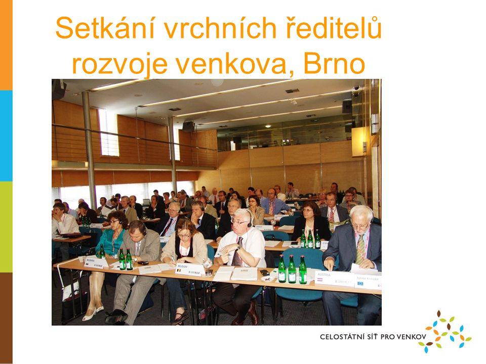 Setkání vrchních ředitelů rozvoje venkova, Brno