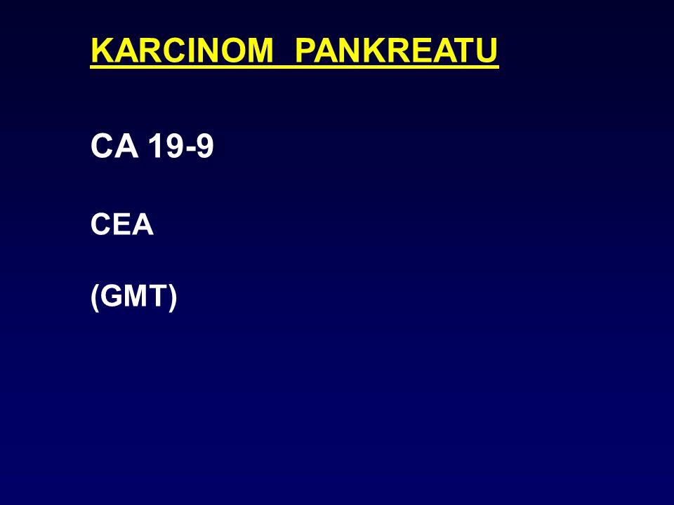 KARCINOM PLIC * NSE malobuněčný * CYFRA 21-1 nemalobuněčný * SCCA * CEA * TPS (kombinace: CYFRA+NSE CYFRA+CEA)