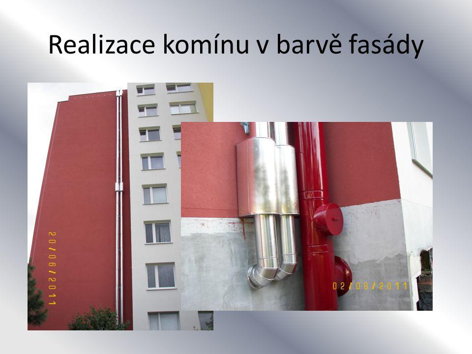 Realizace komínu v barvě fasády