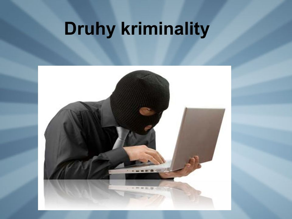Druhy kriminality