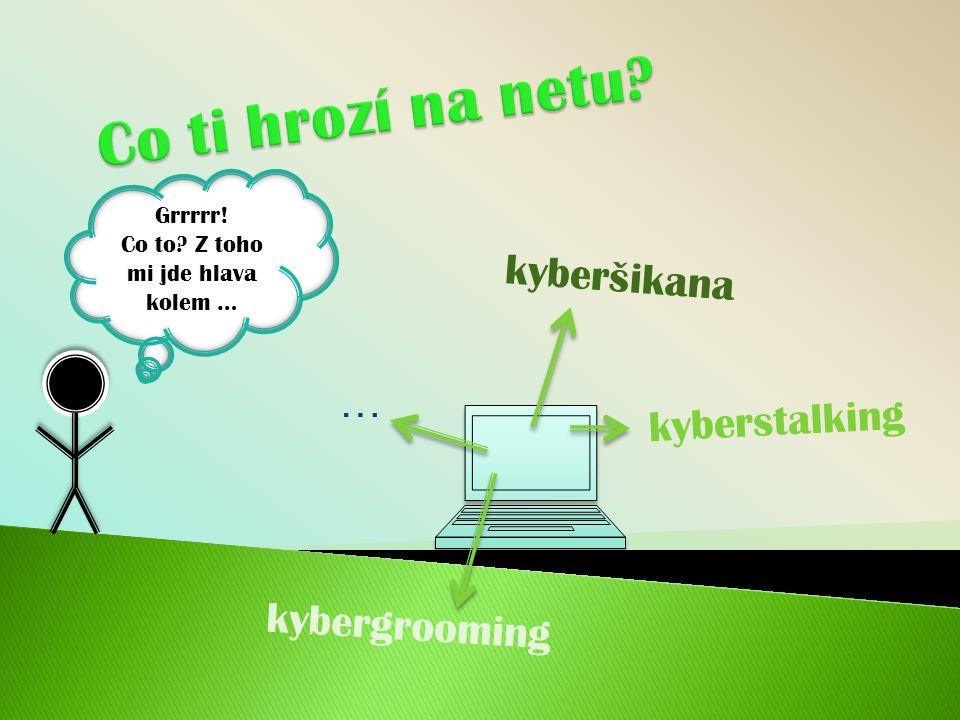 kyberšikana kyberstalking Grrrrr! Co to? Z toho mi jde hlava kolem … kybergrooming …