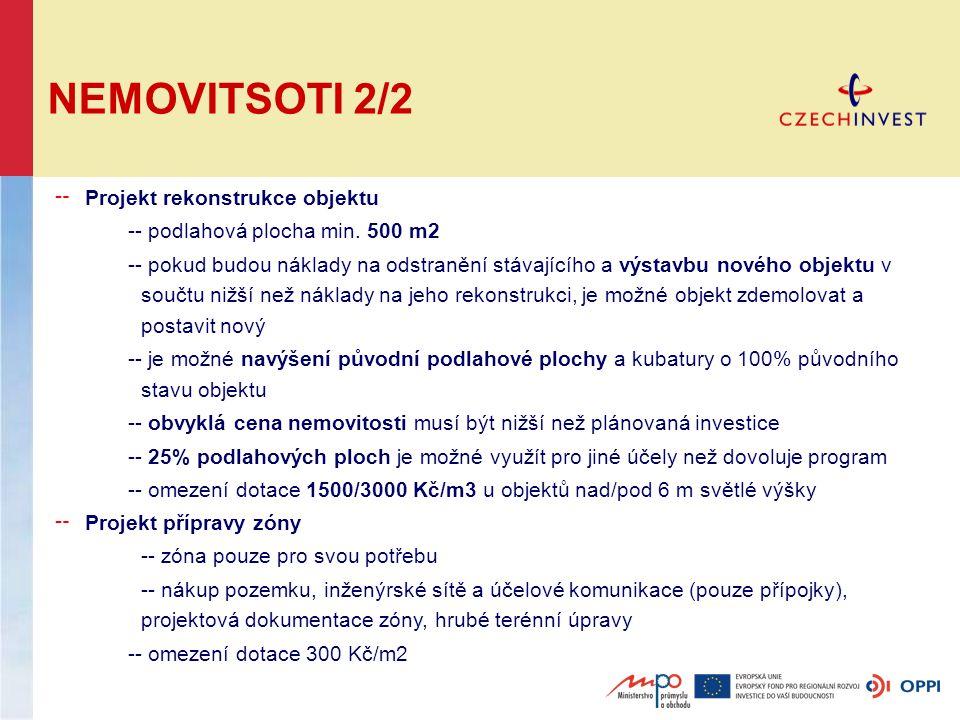 NEMOVITSOTI 2/2 ╌ Projekt rekonstrukce objektu -- podlahová plocha min.