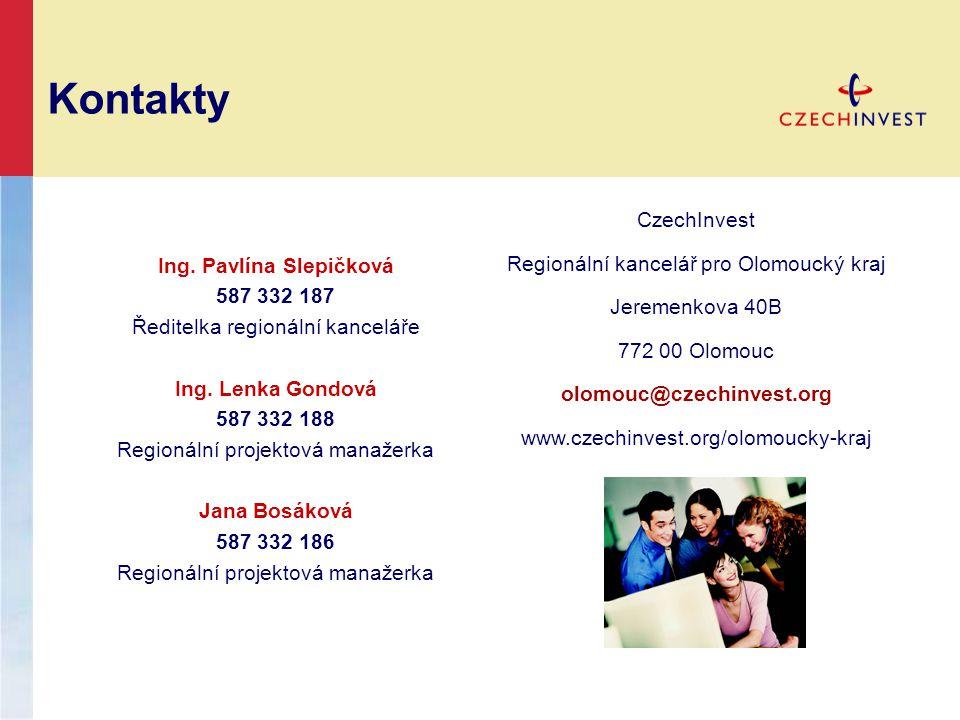 Kontakty Ing. Pavlína Slepičková 587 332 187 Ředitelka regionální kanceláře Ing.