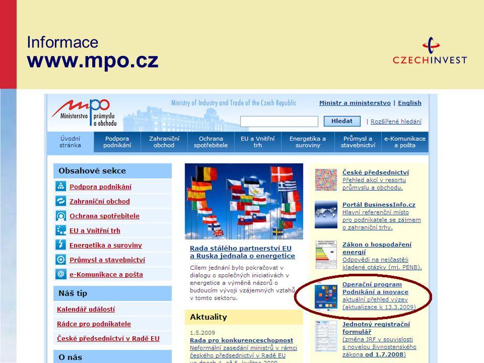 Informace www.mpo.cz