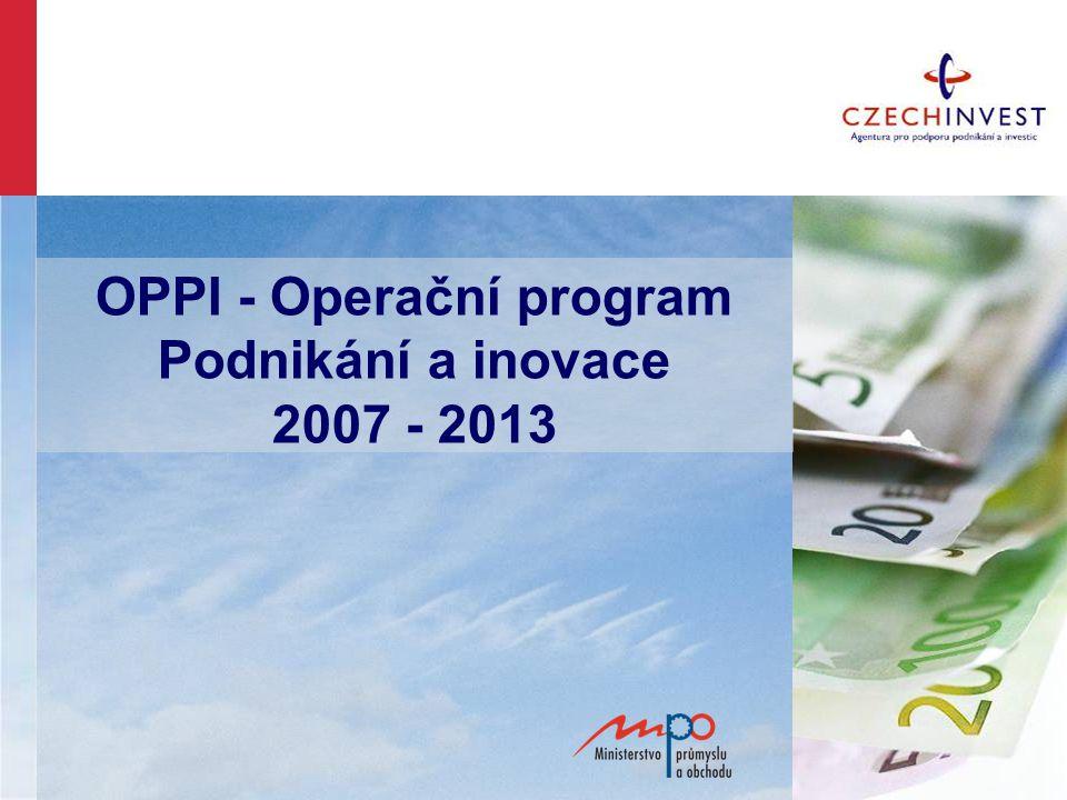 OPPI - Operační program Podnikání a inovace 2007 - 2013