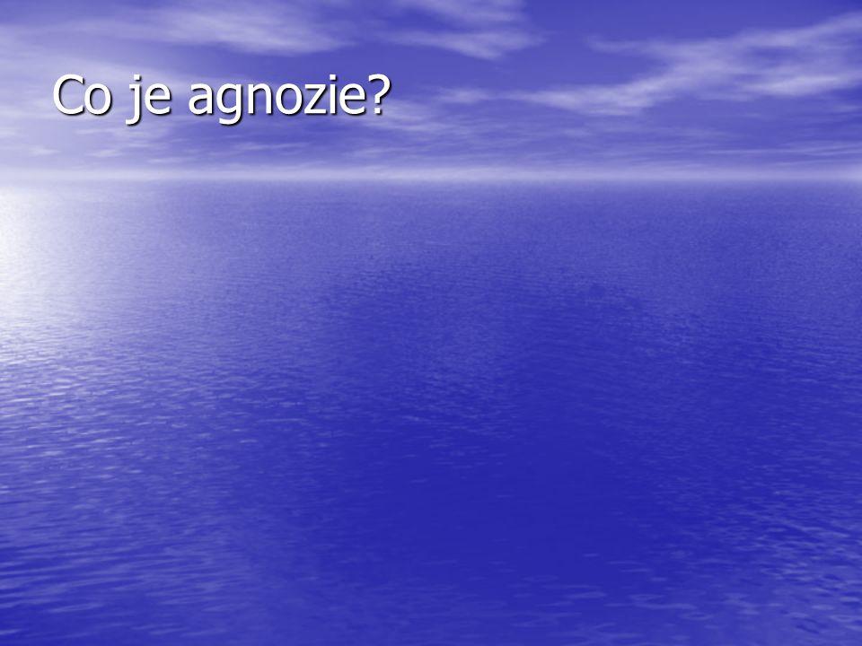 Co je agnozie