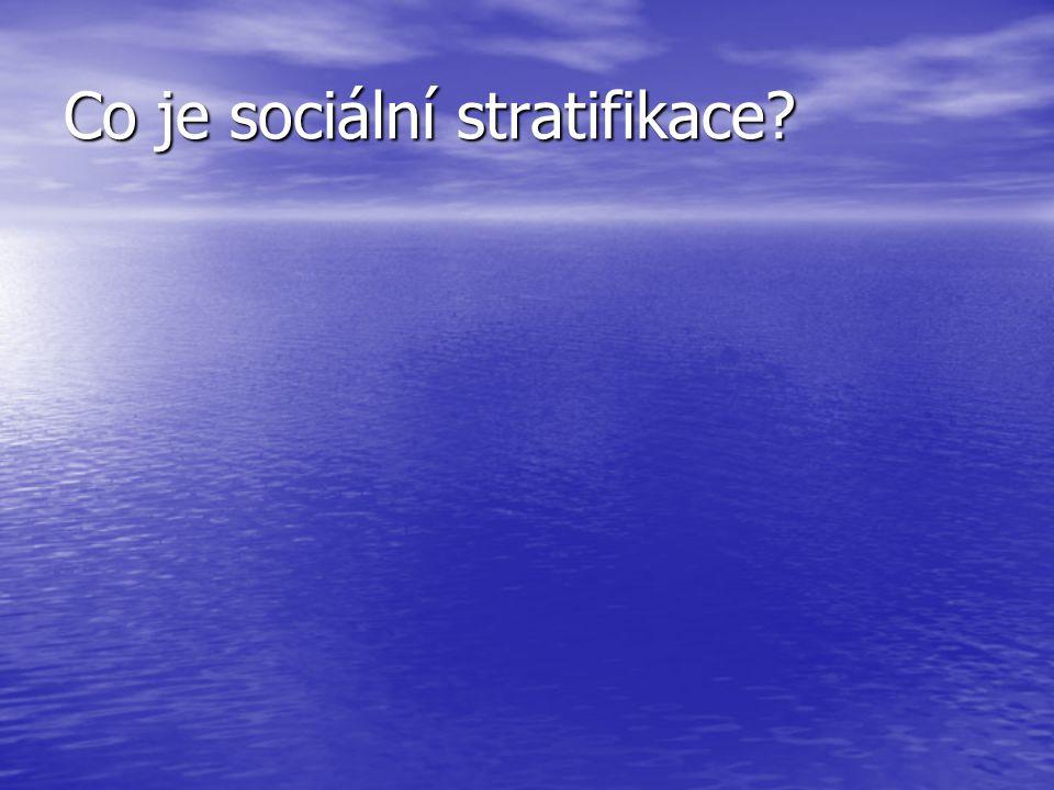 Co je sociální stratifikace