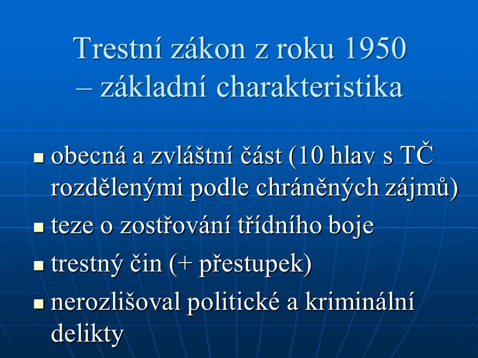 Trestní právo správní diskuse o oprávněnosti samostatné existence TPS už před válkou (na Slovensku trestní zákon o přestupcích 1879) diskuse o oprávněnosti samostatné existence TPS už před válkou (na Slovensku trestní zákon o přestupcích 1879) = specifická součást správního práva = specifická součást správního práva upravuje postih za méně společensky nebezpečné delikty, uskutečňovaný správními orgány (mimosoudní cestou) upravuje postih za méně společensky nebezpečné delikty, uskutečňovaný správními orgány (mimosoudní cestou) nástroj k potírání drobné kriminality (+ zneužitelný instrument) nástroj k potírání drobné kriminality (+ zneužitelný instrument)