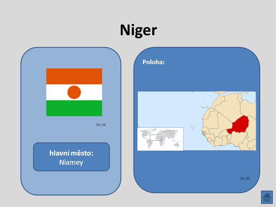 Niger hlavní město: Niamey Poloha: Obr.29 Obr.30