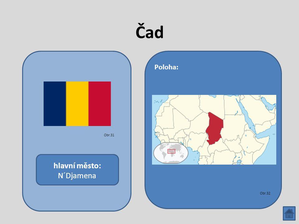 Čad hlavní město: N´Djamena Poloha: Obr.31 Obr.32