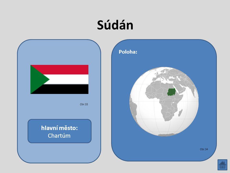 Súdán hlavní město: Chartúm Poloha: Obr.33 Obr.34