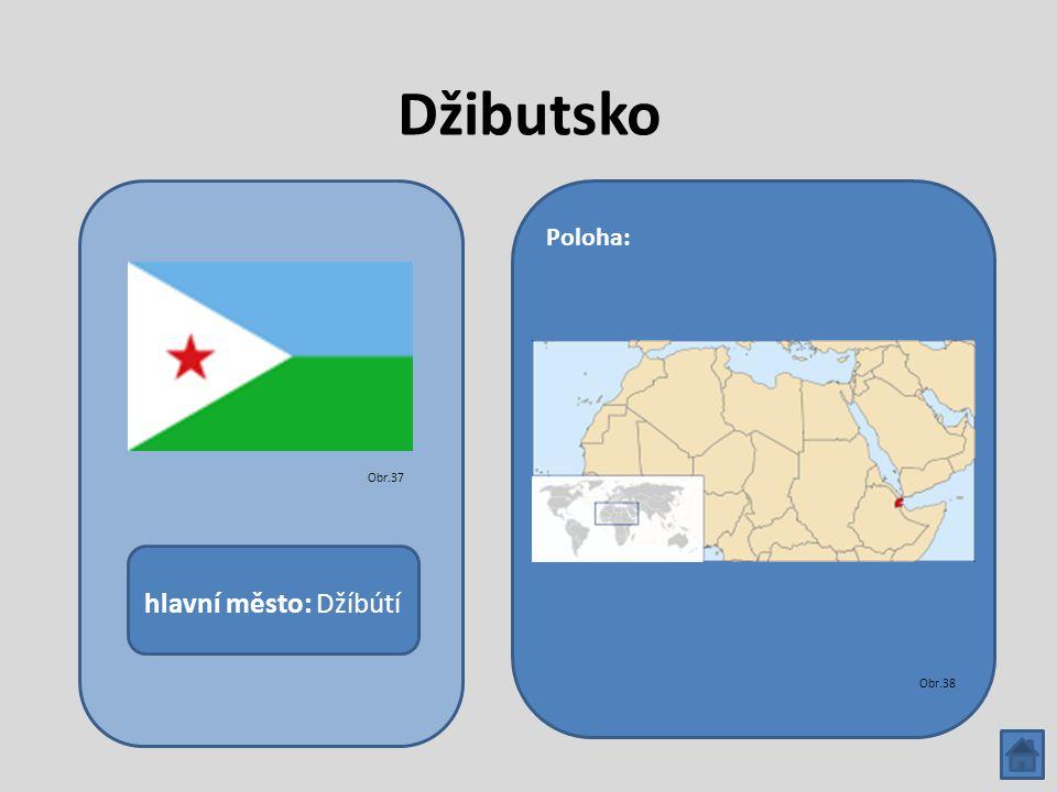 Džibutsko hlavní město: Džíbútí Poloha: Obr.37 Obr.38