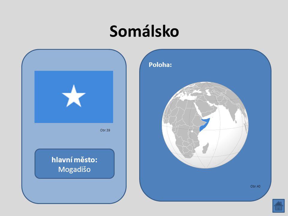 Somálsko hlavní město: Mogadišo Poloha: Obr.39 Obr.40